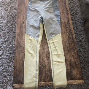 Outdoor voices three color leggings, size small